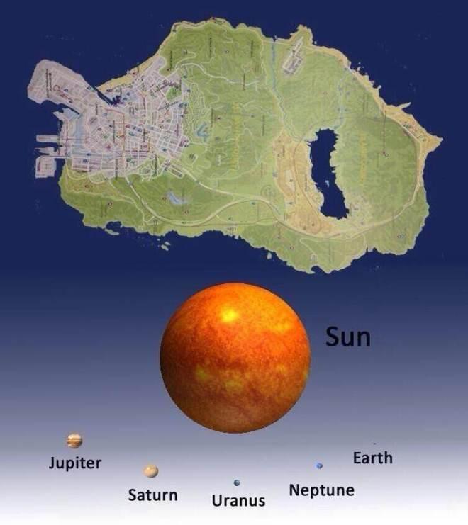 Die Map... selbstverständlich größer als die Sonne